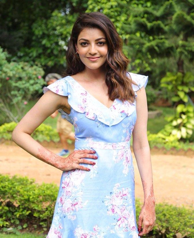 Actress Kajal @ That Is Mahalakshmi Movie Sets Photos