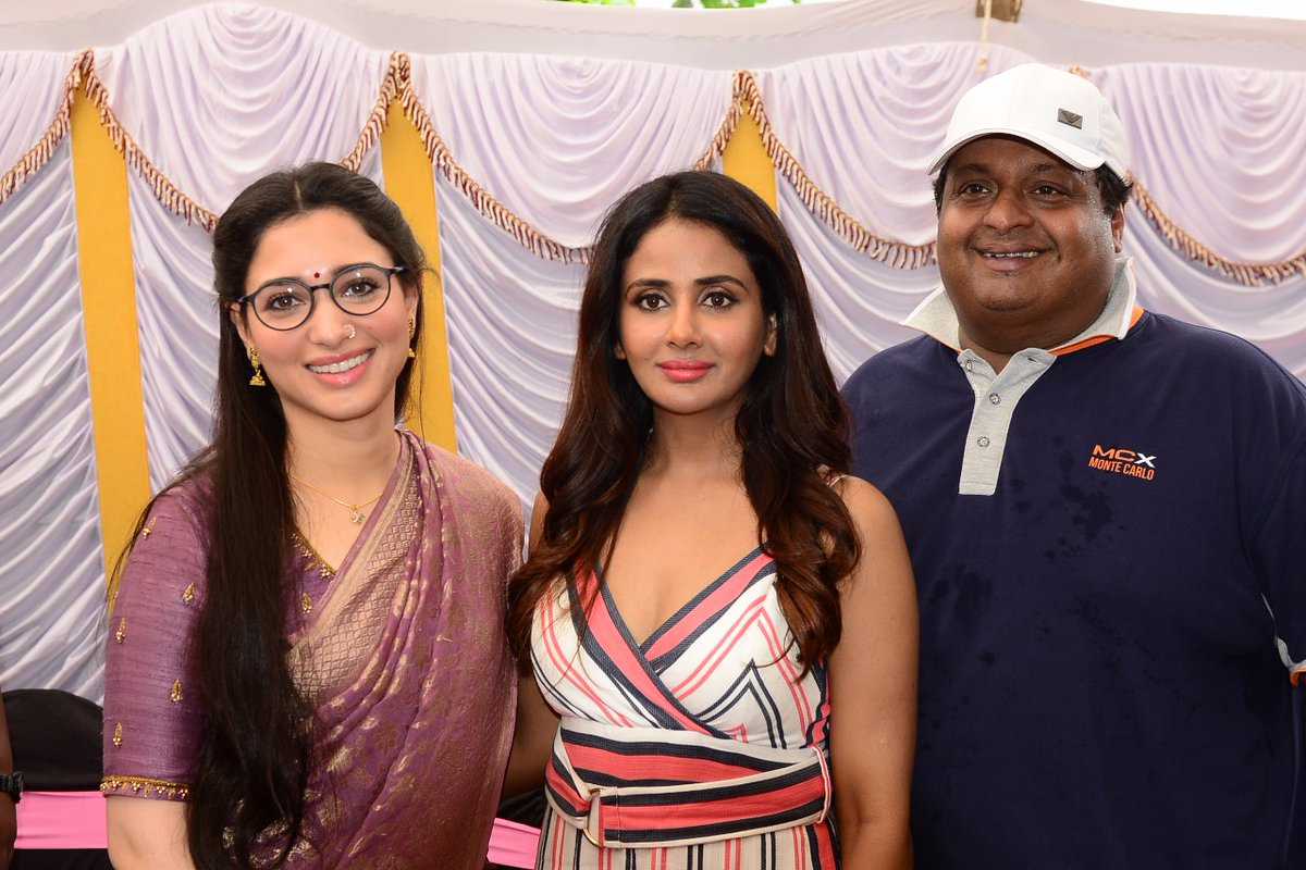 Tamanna, Parul Yadav @ That Is Mahalakshmi Movie Sets Photos