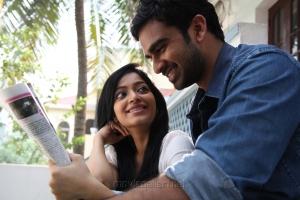 Janani Iyer, Ashok Selvan in Thegidi Telugu Movie Stills