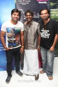 Shiva, Vijay Vasanth, Premji at Theriyama Unnai Kadhalichitten Audio Launch Stills