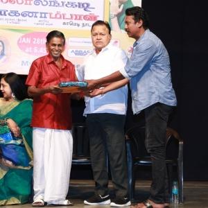Radha Ravi, Samuthirakani @ Thillalangadi Mohanambal 100th Show Event Stills