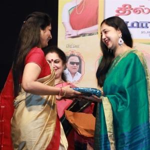 Aishwarya @ Thillalangadi Mohanambal 100th Show Event Stills