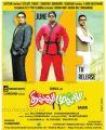 Prakash Raj, Shiva in Thillu Mullu 2 Movie Release Posters