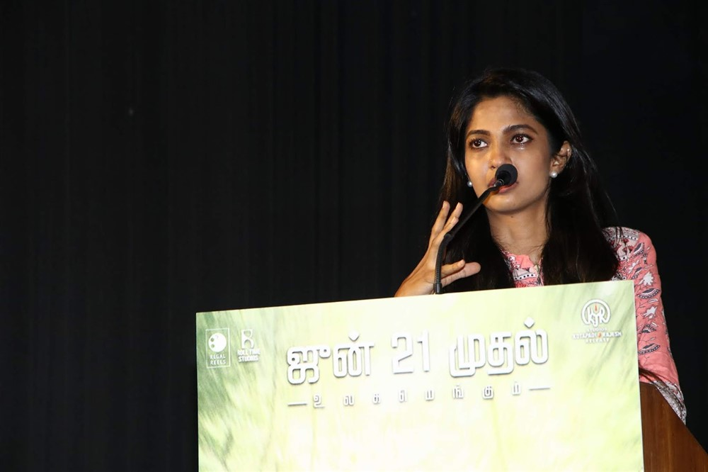 Actress Keerthi Pandian @ Thumbaa Movie Press Meet Stills