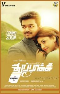 Vijay, Kajal in Thuppaki Movie Release Posters