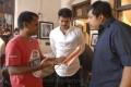 AR Murugadoss, Vijay, Sathyan at Thuppaki Shooting Spot Stills