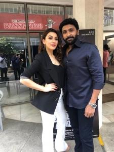 Hansika Motwani, Vikram Prabhu @ Thuppakki Munai Movie Press Meet Stills