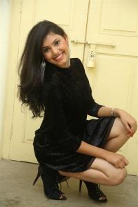 Telugu Actress Mounika in Black Dress Stills