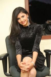Actress Mounika Stills @ Tik Tak Movie Website Launch