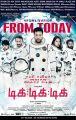 Aaron Aziz Jayam Ravi Nivetha Pethuraj Tik Tik Tik Movie Release Today Posters