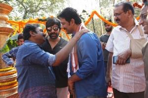 VV Vinayak, Ravi Teja, Vikram Sirikonda @ Touch Chesi Chudu Movie Launch Stills