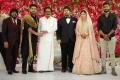 T Rajendar, Simbu, Su. Thirunavukkarasar @ TR Kuralarasan Nabeelah R Ahmed Wedding Reception Stills
