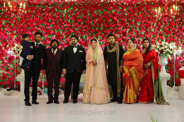 T Rajendar, Simbu @ TR Kuralarasan Nabeelah R Ahmed Wedding Reception Stills