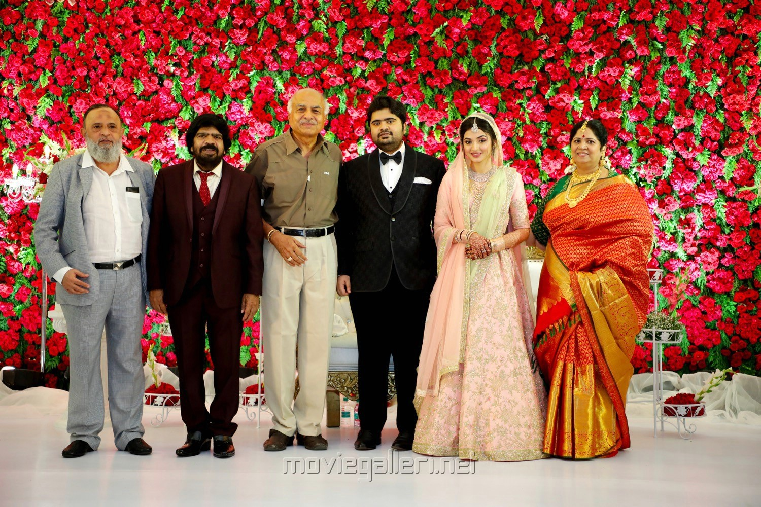 T Rajendar, RB Choudary @ TR Kuralarasan Nabeelah R Ahmed Wedding Reception Stills