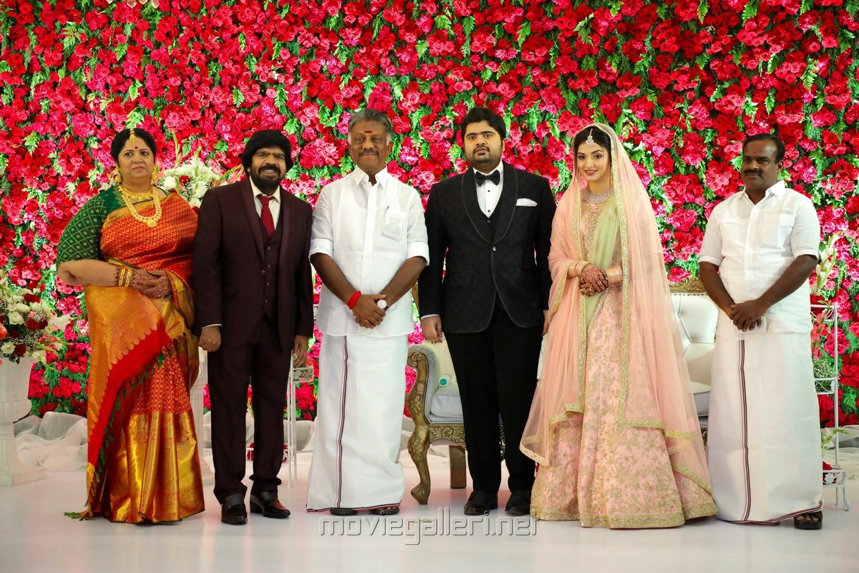 T Rajendar, O Panneerselvam @ TR Kuralarasan Nabeelah R Ahmed Wedding Reception Stills