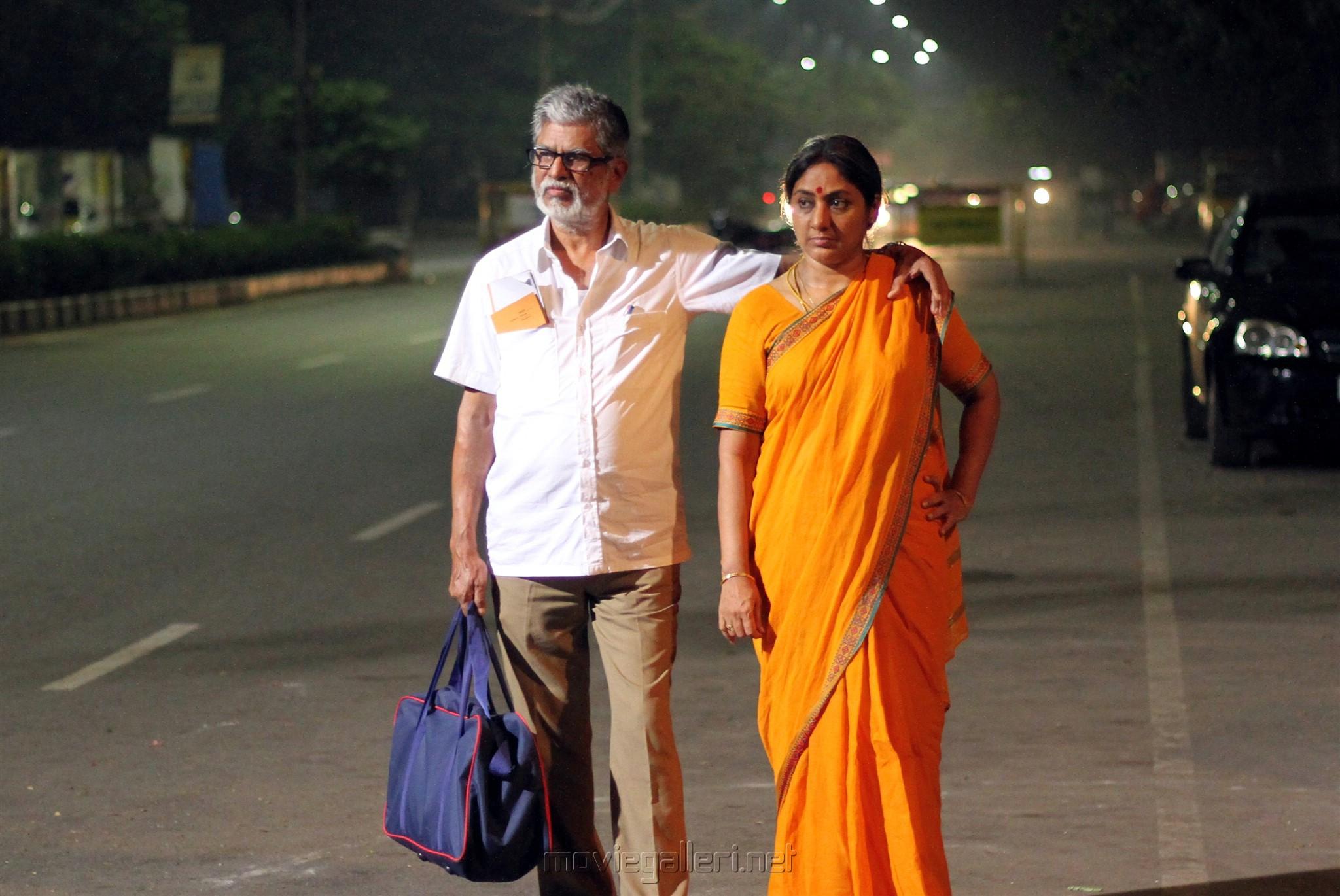 SA Chandrasekhar, Rohini in Traffic Ramasamy Movie Stills HD