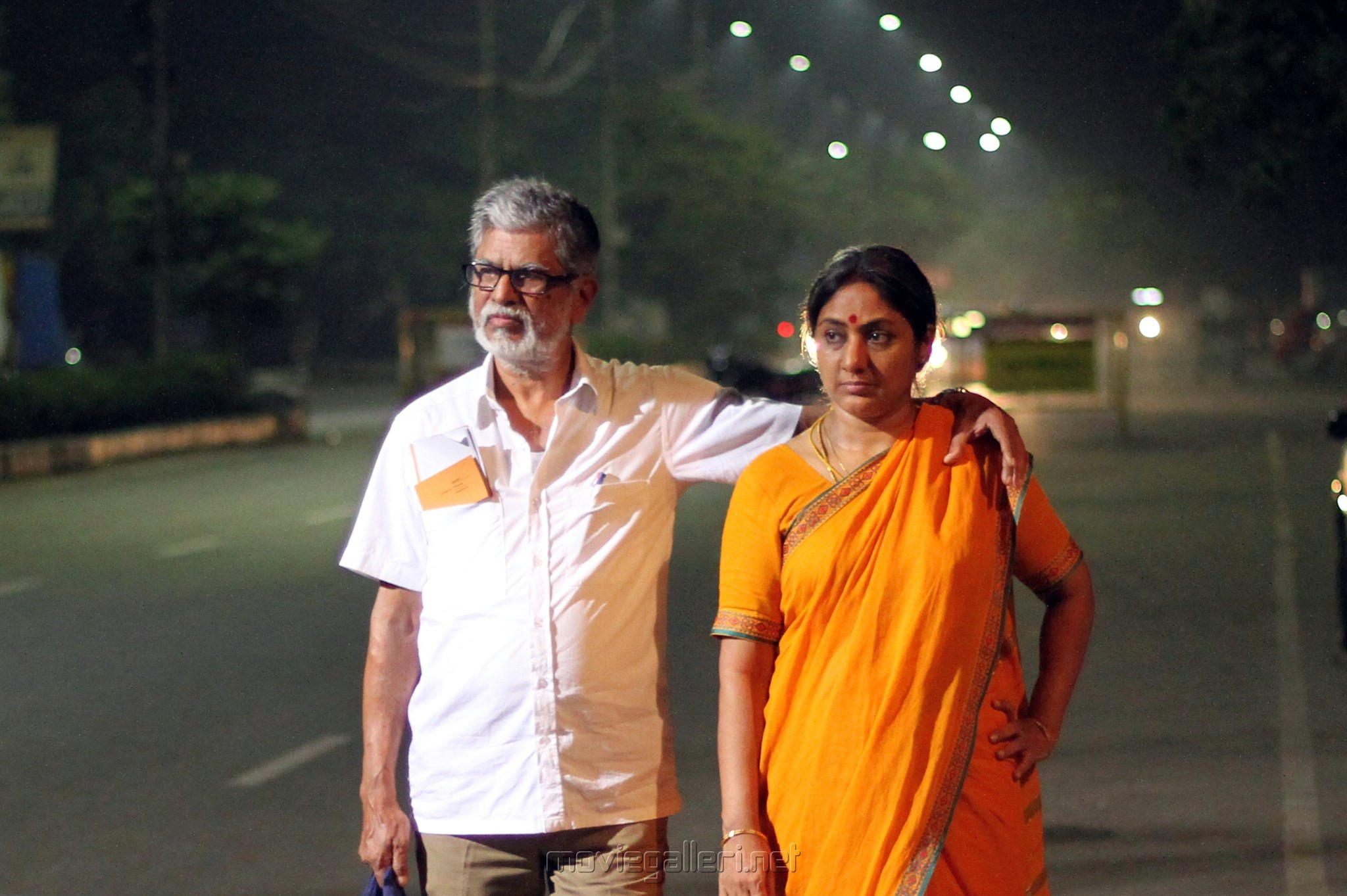 SA Chandrasekhar, Rohini in Traffic Ramasamy Movie Stills HD