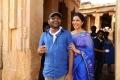 Raajakiran, Swathi @ Tripura Movie Working Stills