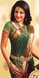 Cute Trisha Krishnan Saree Photoshoot for NAC Jewellers Ad
