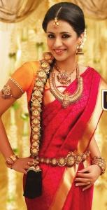 Gorgeous Trisha in Saree Photoshoot for NAC Jewellers Ad