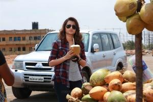 Garjanai Movie Actress Trisha Stills