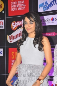 Actress Trisha @ SIIMA 2013 Pre-Party in Mini Gown showing her Lovely Legs