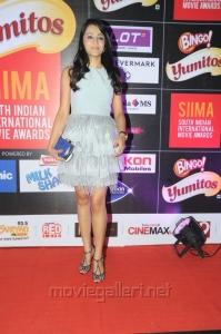 Trisha Hot White Mini Gown Photos @ SIIMA 2013 Pre-Party