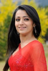 Actress Trisha in Saree in Bodyguard Movie