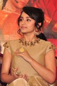 Actress Trisha Krishnan Images @ Nayaki Press Meet