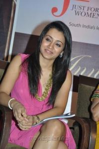Trisha Krishnan New Images in Pink Mini Skirt