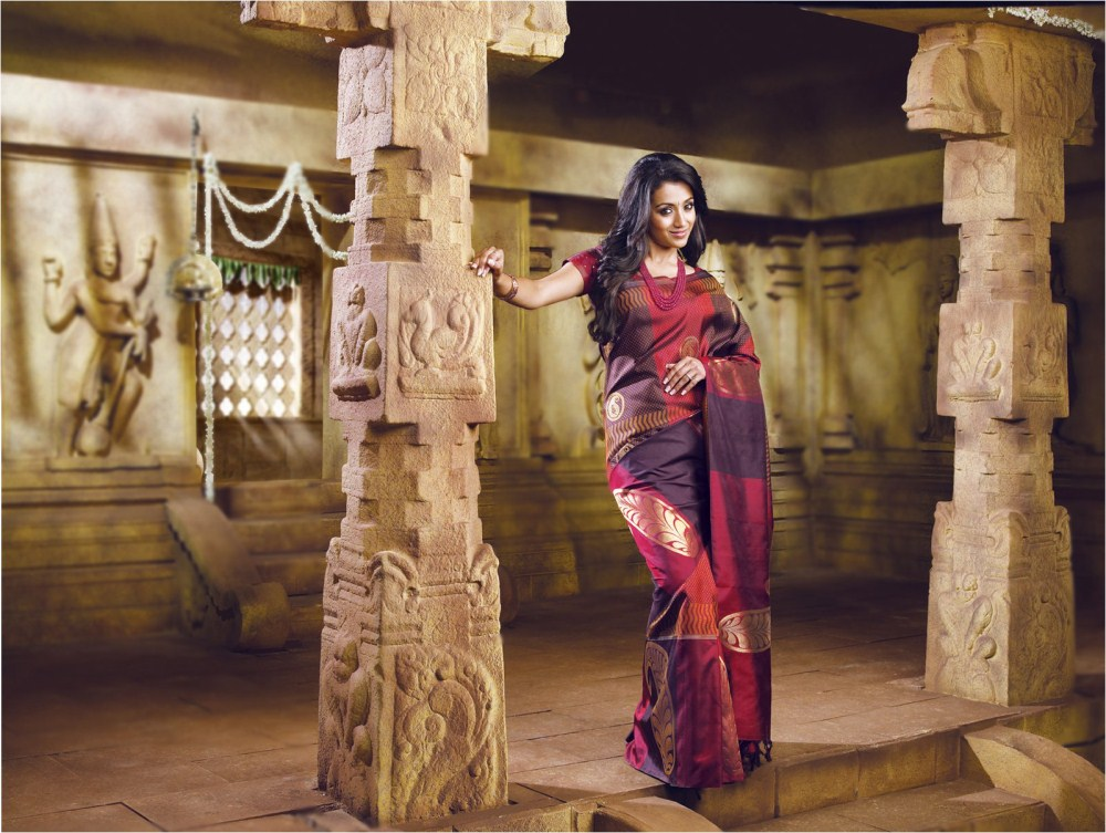 Beautiful Trisha Samudrika Pattu Pothys Silk Saree Photo Shoot Rashi Khanna Traditional Dress Images