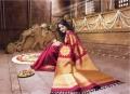 Actress Trisha Beautiful Silk Saree Photo Shoot Pics