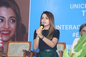 Actress Trisha @ UNICEF End Violence Against Children Youth Talks Photos