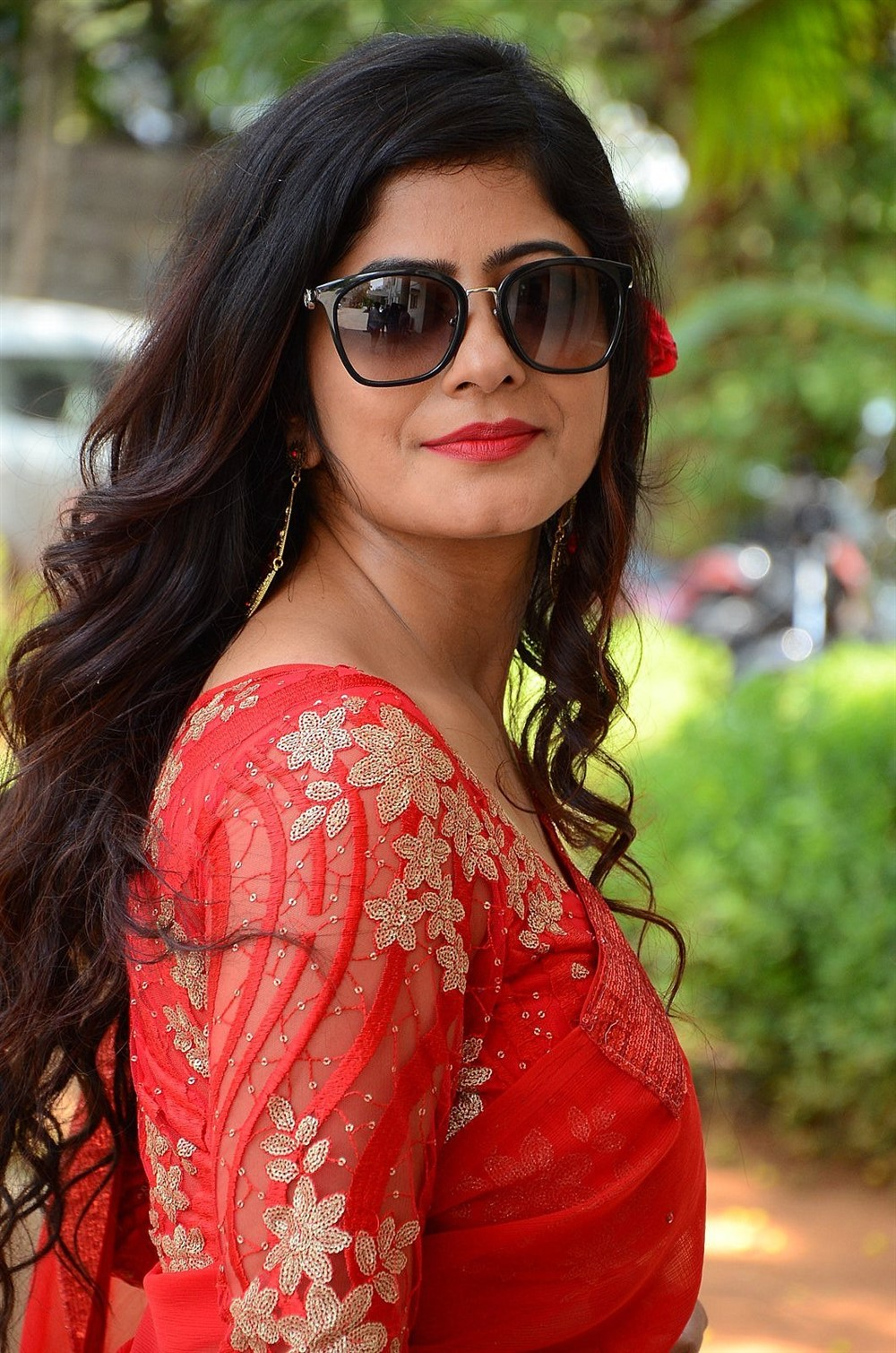 Last Seen Actress Tulika Singh Red Saree Photos