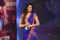 Udaya Bhanu in Blue Saree Photos @ Adda Audio Release