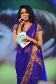 Anchor Udaya Bhanu Photos in Blue Saree @ Adda Audio Release
