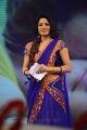 Udaya Bhanu New Photos in Blue Saree @ Adda Audio Release