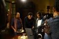 Thambi Ramaiah, Prakash Raj, Elango Kumaravel @ Un Samayal Arayil Movie Working Stills
