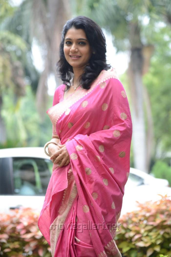 Telugu Actress Oormila in Pink Silk Saree Beautiful Stills