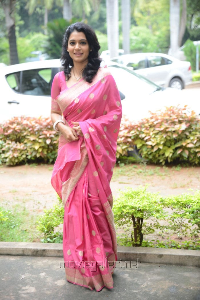 Telugu Actress Urmila in Pink Silk Saree Stills