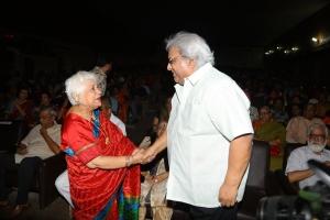 Sowcar Janaki, Ramkumar @ Uyarndha Manithan Movie 50th Year Celebrations Photos