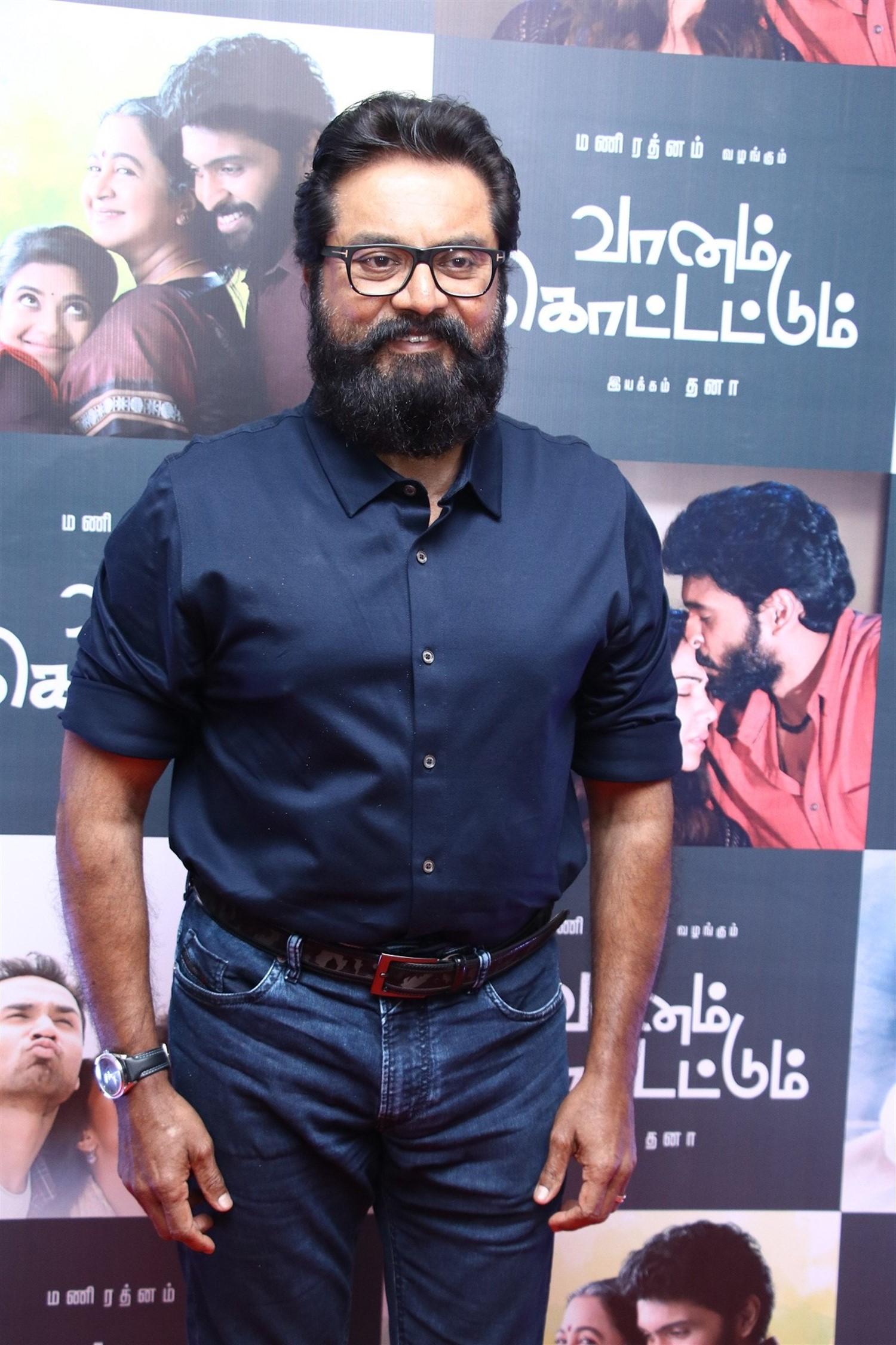 Sarathkumar @ Vaanam Kottatum Movie Audio Launch Stills