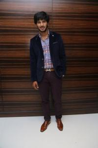 Actor Dulquar Salman @ Vaayai Moodi Pesavum Movie Press Meet Stills