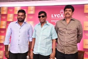 GKM Tamilkumaran, Vadivelu, Suraaj @ Lyca Production No 23 Movie Press Meet Stills