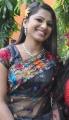 Tamil Actress Vaidegi Hot Stills in Transparent Black Saree