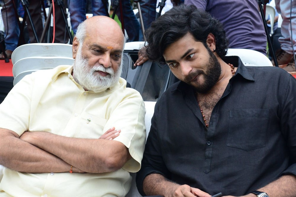 K Raghavendra Rao, Varun Tej @ Valmiki Movie Velluvachi Godaramma Song Launch Stills