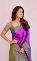 Actress Vani Bhojan Cute Saree Images