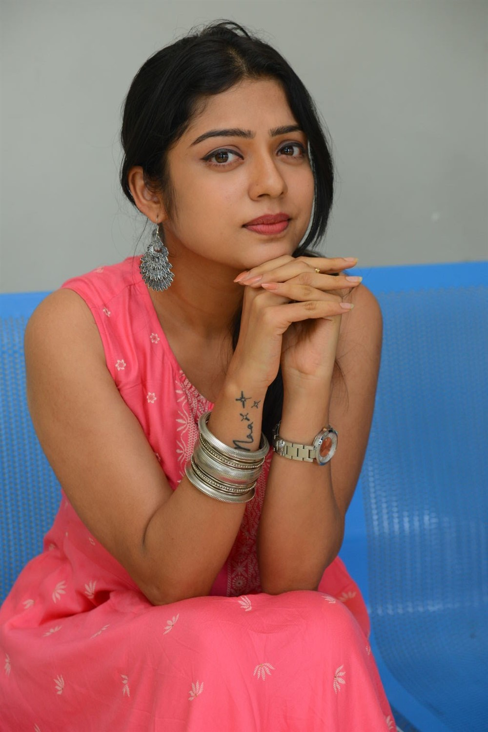 Actress Varsha Bollamma Cute Images @ Choosi Choodangane Press Meet