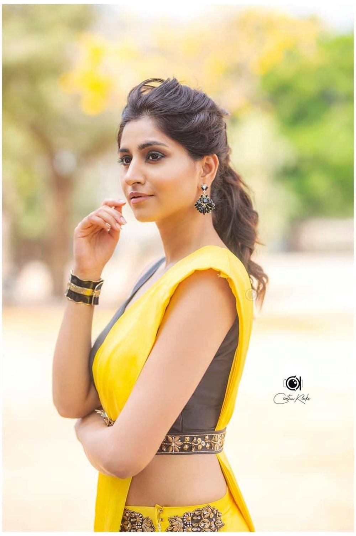Actress Varshini Saree Photoshoot Pictures