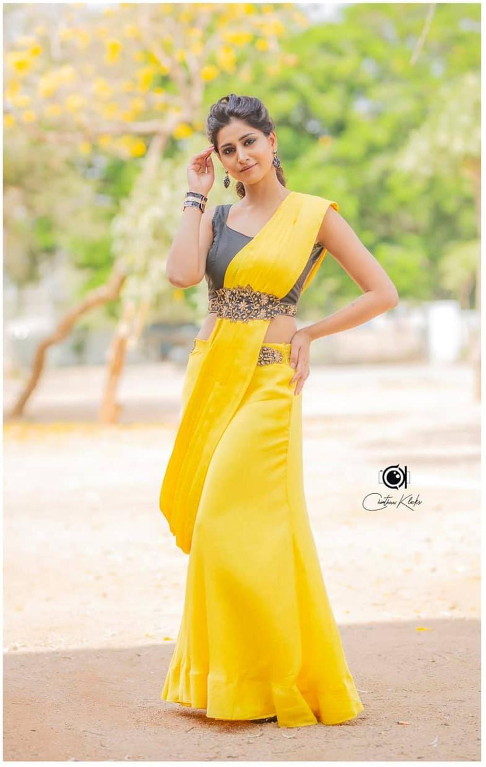 Actress Varshini Sounderajan Saree Photoshoot Pictures